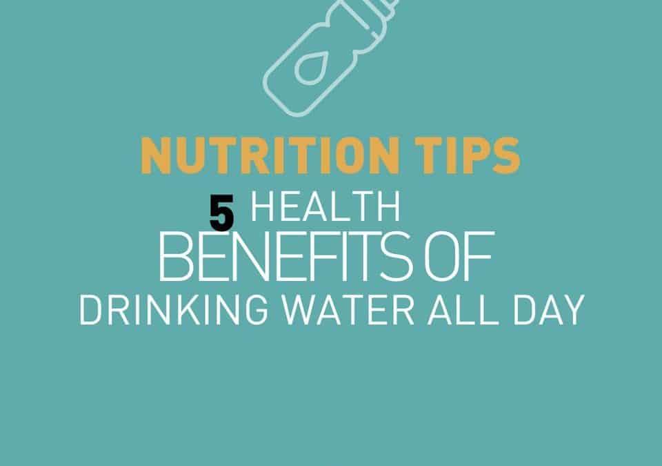 5 bienfaits de boire de l'eau toute la journée