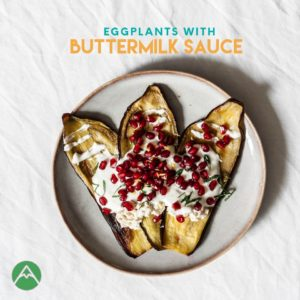 Buttermilk sauce Eggplant
