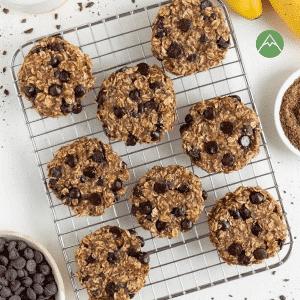 Oatmeal banana chocolate cookies